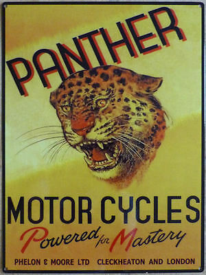 Panther Motorcycle  Metal Sign
