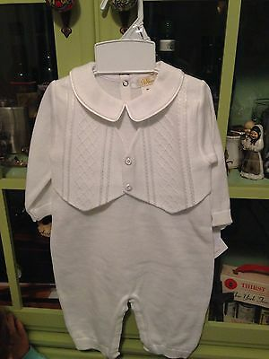 Renzo Christening Outfit Size 9M with matching hat new with tags