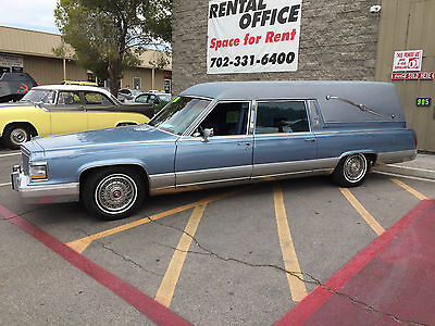 1990 Cadillac HEARSE  HEARSE  1990 CADILLAC Broham d' Elegance Federal Hearse 38K Miles Stereo Pin-Stripping