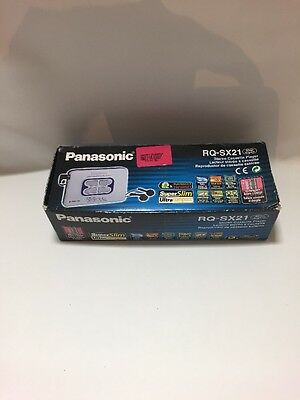 Panasonic Stereo Cassette Player RQ-SX21 Rare Boxed  with booklets and battery p