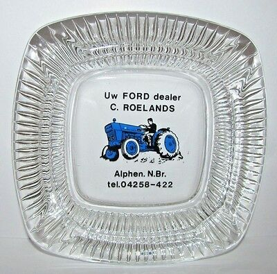 "Ford Tractor Equipment Dealer Advertising Ashtray C. Roelands Netherlands 5""x5"""