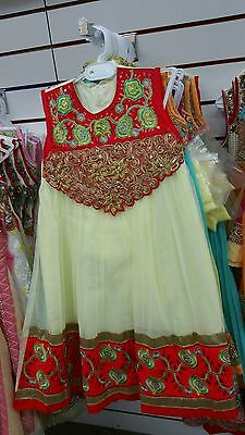 indian pakistani children anarkali dresses clothes party wear girls