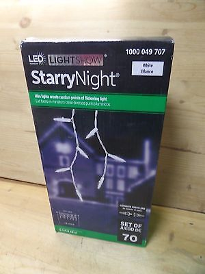 Lightshow 70 LED White Starry Nights Icicle Light String by Gemmy