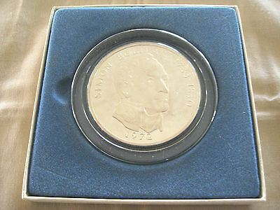 1972 Republic Of Panama 20 Balboas Sterling Silver Proof Coin