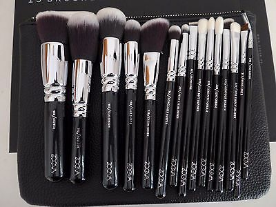 ZOEVA GERMANY Made Golden Complete brush Set 15pcs Vol 1 + Clutch RRP £110 NEW