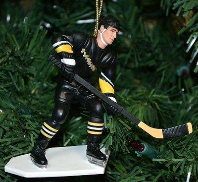 Ron Francis Pittsburgh Penguins Black Jersey Hockey Christmas Tree Ornament NHL