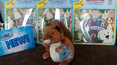 Webkinz Red Squirell  NEW and UNUSED code