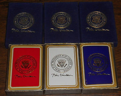 Complete Set of President Clinton Gift Playing Cards