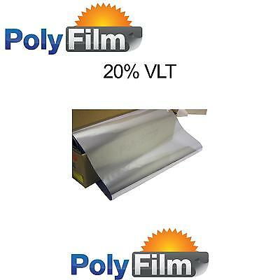 Window Film 20% Silver Mirror Reflective 76cm x 30m Roll Glass Home Office Tint