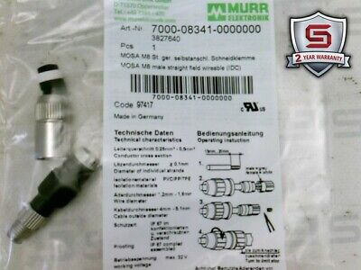 Murr Electronic 7000-08341-0000000 MOSA M8 Male Straight Field Wireable (IDC)
