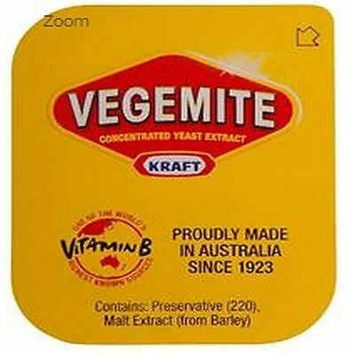 *Bulk Buy* Mondelez (Kraft) Vegemite Portion Control 90x4.8g *Free Post*