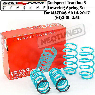 Godspeed Traction-S Lowering Springs For Mazda6 2014+ (Gj) 2.0L 2.5L Set Kit Blu