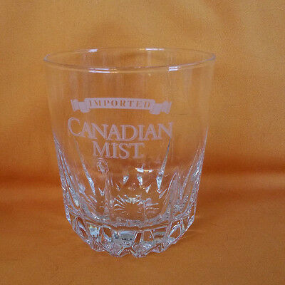 Imported Canadian Mist Canadian Whiskey Glass Etched Glassware Barware