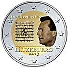 2 euro luxembourg 2013 commémorative hymne. National