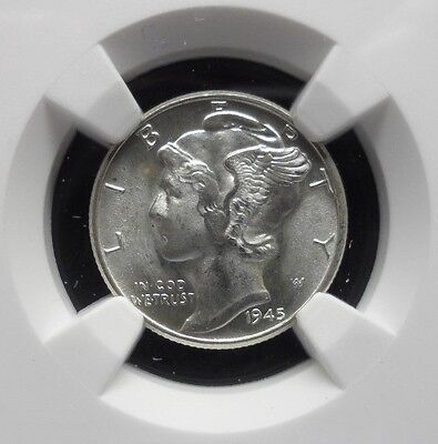 1945-P NGC MS66 Mercury Dime