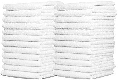 Wash Cloth Towels by Royal, 48-Pack, 100% Natural Cotton, 12 x 12, Machine