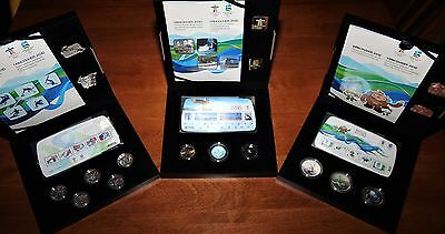 2010 Vancouver Olympic GOLD, SILVER & BRONZE Coins, Stamps, Pins Collector Sets