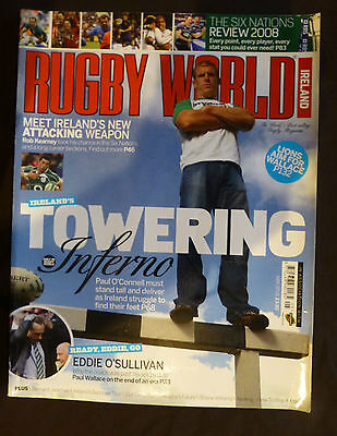 Rugby World Ireland May 2008 Paul O'Connell-The Towering Inferno
