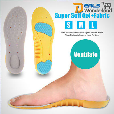 Women  Men Gel Orthotic Sport Insoles Insert Shoe Pad Arch Support Heel Cushion