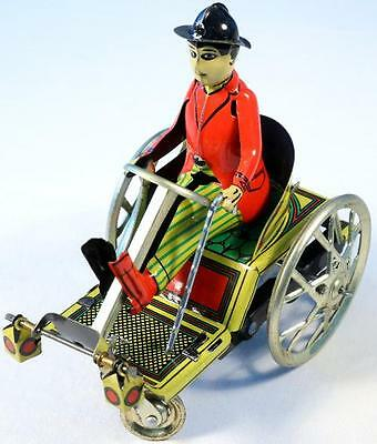 Man On Trick Cart Tin Toy, SEE VIDEO - FREE Shipping!