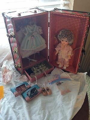 The littlest angel doll with lot of outfits  accessories and Cass Toy Chest