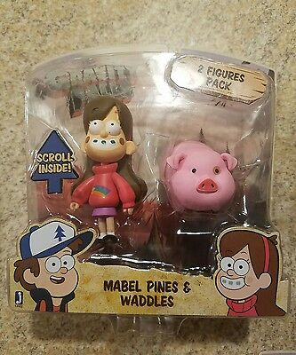 Mabel with Waddles Gravity Falls Stands 3 Inch Tall With 2 Figures Collectible