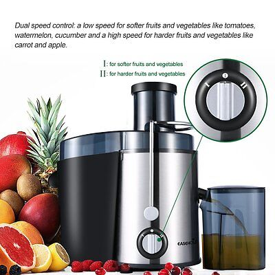 Easehold Juice Processor Wide Mouth Fruit Vegetable Juicer Dual Speed 400W 【AU】