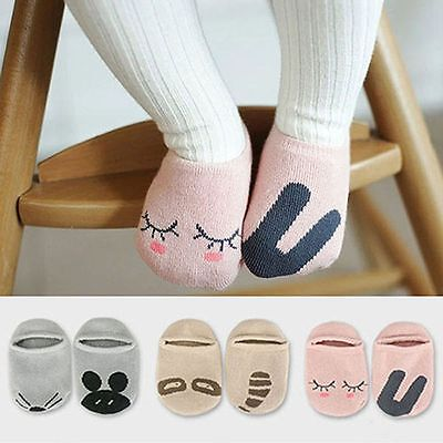 Infant Baby Girls Boys Cute Rabbit Rat Bear Cartoon Anti-slip Short Socks