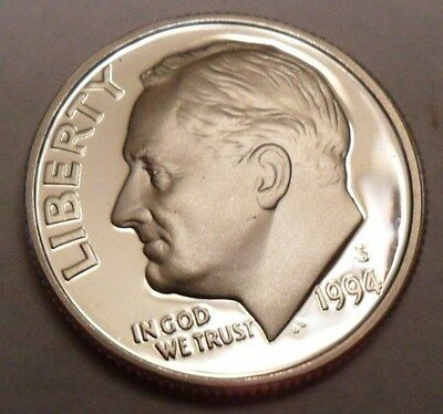 1994 S Roosevelt *90% Silver Proof* Dime **free Shipping**