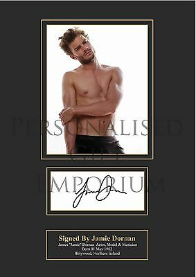 Jamie Dornan Fifty Shades Of Grey Signed Pre Printed Autograph (Mr Grey) A4