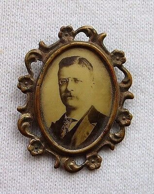 Antique Theodore Roosevelt Campaign ? Photo Pin Young Teddy Vintage Pin