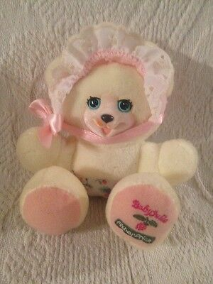 Fisher Price Briarberry Baby Julie Bear Cub Jointed Plush Yellow W/ Bonnet