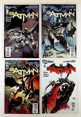Batman The New 52! Dc 2011 Lot Of 4 Comics #1 1St Print 2 2 Variant 3 (Vf/nm)
