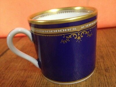 R.M.S. Titanic Collection 1st Class Demitasse Cobalt Blue & Gold Woodmere Cup