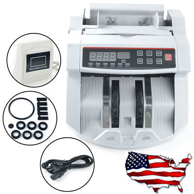Professional Money Bill Counter UV Currency Cash Counting Machine Bank Sorter US