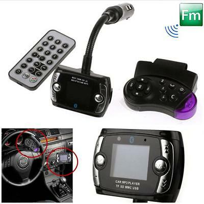Car Kit Wireless Bluetooth FM Transmitter MP3 Player SD LCD Remote Handsfree