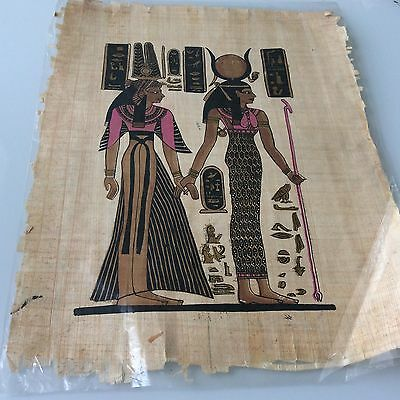 Pharaonic Papyrus With A Handmade Colorful Painting