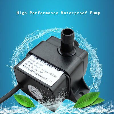 QR30A DC 12V 5W 260L/H Low Power CPU Brushless Water Pump Brushless DC Pump SM