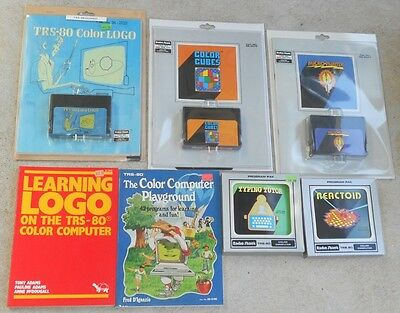 5 Rom Pack cartridges for the Tandy TRS-80 Color Computer Coco 1 2 3