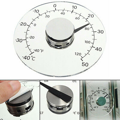 Clear ℉ ℃ Circular Outdoor Window Temperature Thermometer Weather Station Tool