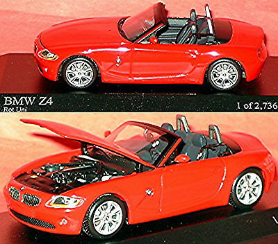 BMW Z 4 Convertible E85 2002-08 Rojo Red 1:43 Minichamps
