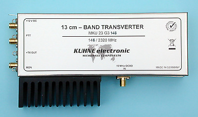 13CM Transverter, 2.3 GHz, IF 146 MHz, DB6NT, MKU 23 G3 146, Kuhne electronic
