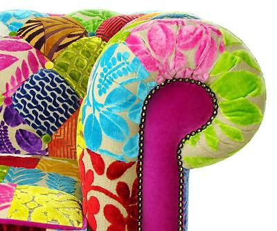 Patchwork Chesterfield Chair Sofa Designers Guild fabric