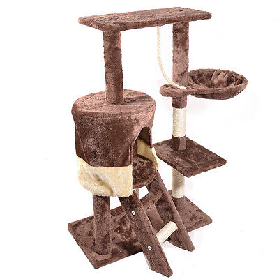 Panana Cat Kitten Tree Scratching Post Toy Activity Centre Pet Climbing Toy Bed