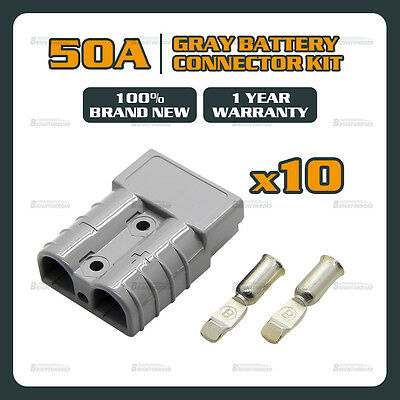 10x Genuine For Anderson Plug Connector 50A  6 GAUGE, SB50A 600V Solar 4x4 truck