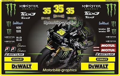 Moto GP 2012 Yam Crutchlow Full Stickers Decals Graphics