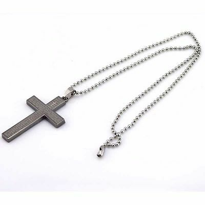 Stainless Steel Necklace Cross Pendant Free Post