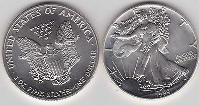 1989 Usa 1 Ounce Silver Eagle In Mint Condition