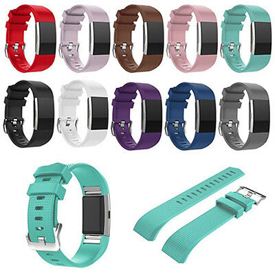 WRIST STRAP Soft SILICONE WATCHBAND/SCREEN FILM FOR FITBIT CHARGE 2 STUNNING