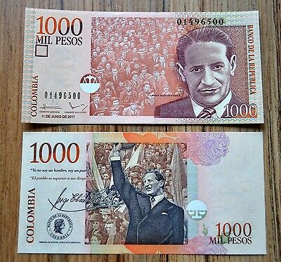 Colombia 1000 1,000 Pesos P-456  2005-2015 UNC BANKNOTE CURRENCY